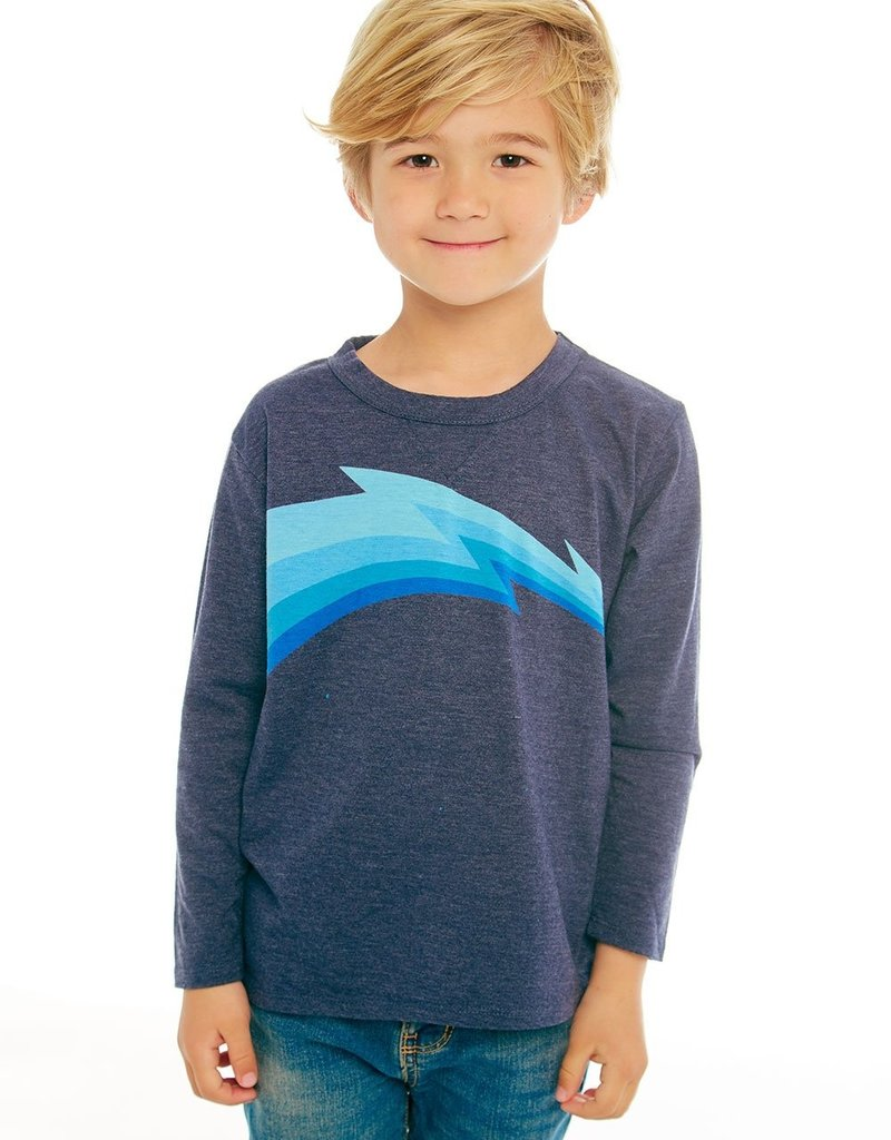 Chaser Chaser Boys Blue Wave LS Tee
