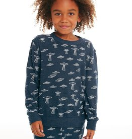 Chaser Chaser Boys Space Print LS Pullover Sweater