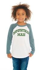 Chaser Chaser Boys Mountain Man Baseball Tee