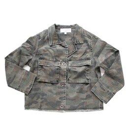 Bella Dahl Bella Dahl Camo Print Cropped Military Jacket