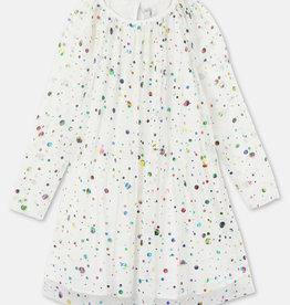 Stella McCartney Stella McCartney LS Foil Dots Tulle Dress