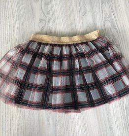 Petit Bateau Petit Bateau Girl Tulle Check Skirt
