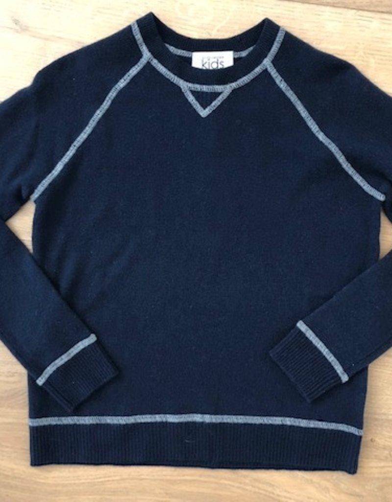 Autumn Cashmere Autumn Cashmere Sweatshirt with Coverstitch