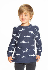 Chaser Chaser Boys Happy Sharks Cozy Knit Pullover