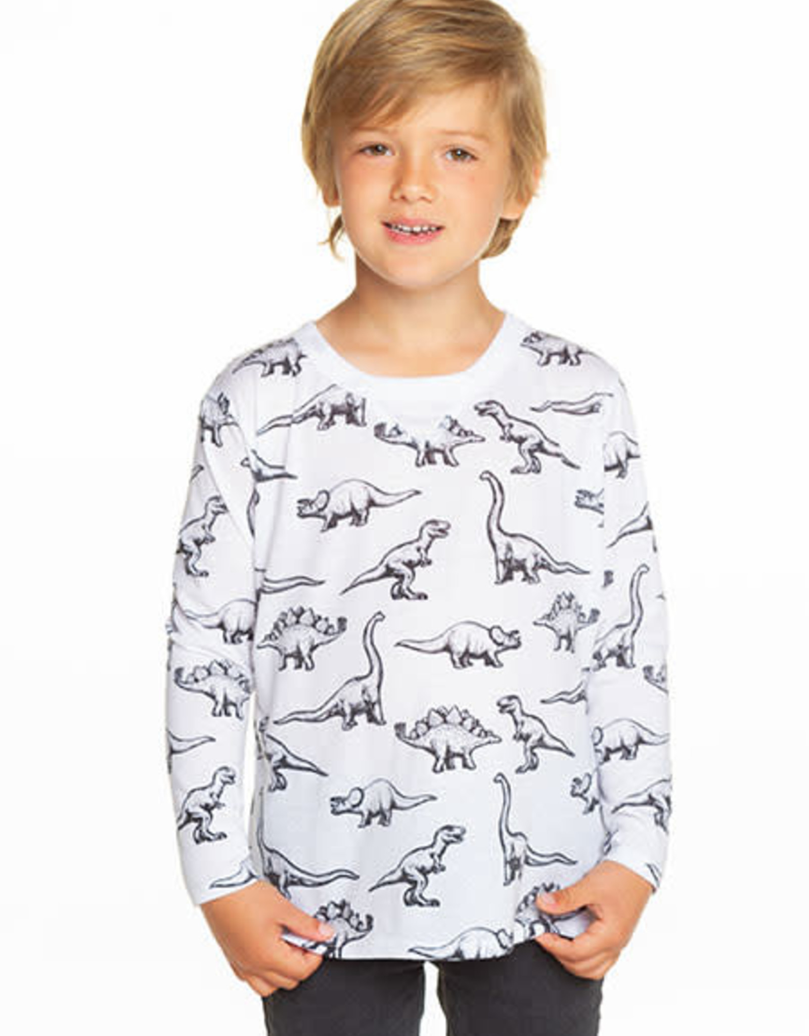 Chaser Chaser Boys Dino Crawl Jersey L/S Tee