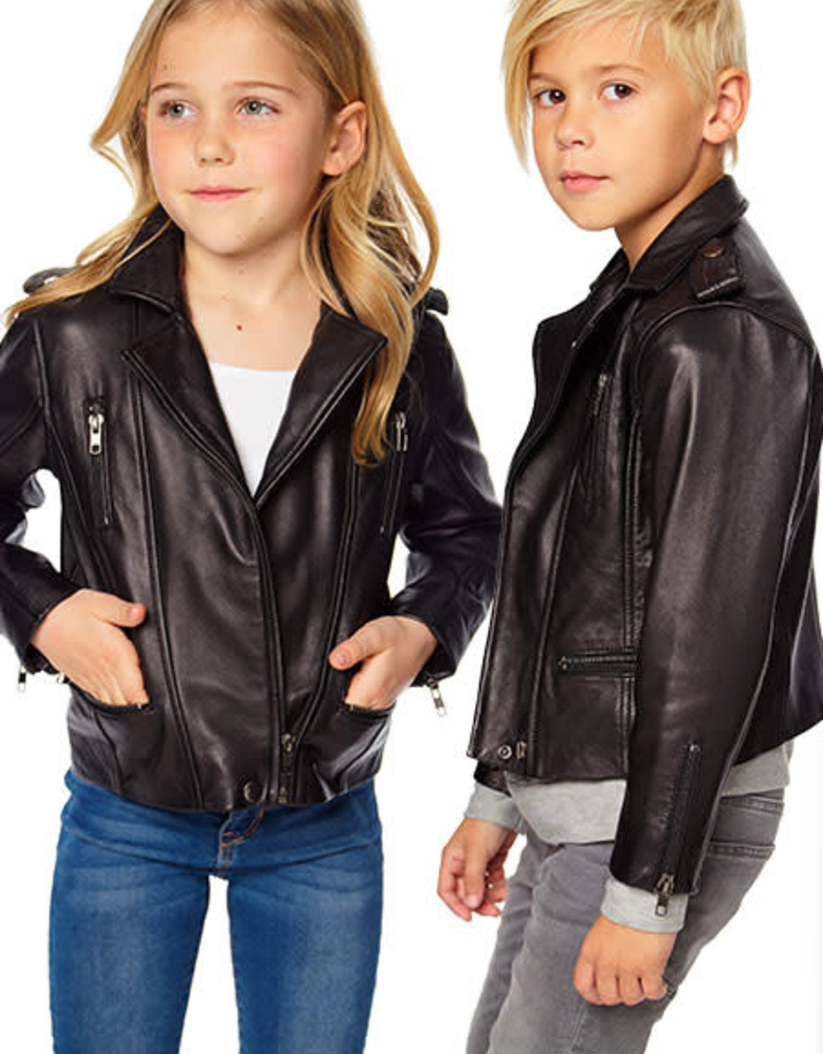 Chaser Chaser Matte Vegan Leather Moto Jacket w Zippers