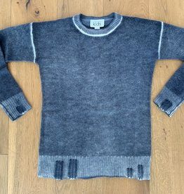 Autumn Cashmere Autumn Cashmere Inked Distressed Crew