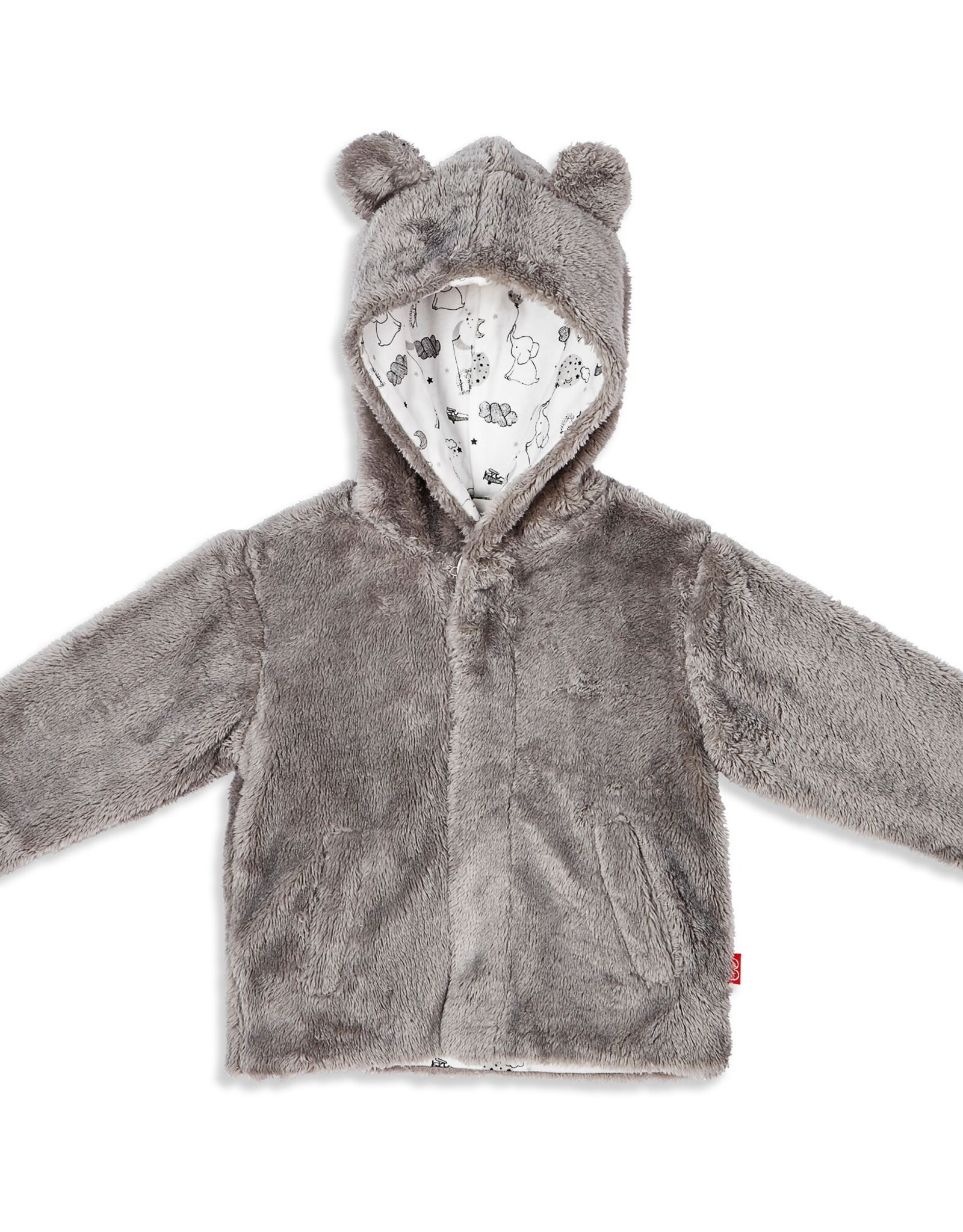 Magnetic Me Magnetic Me So Soft Minky Fleece Magnetic Jacket, Drizzle