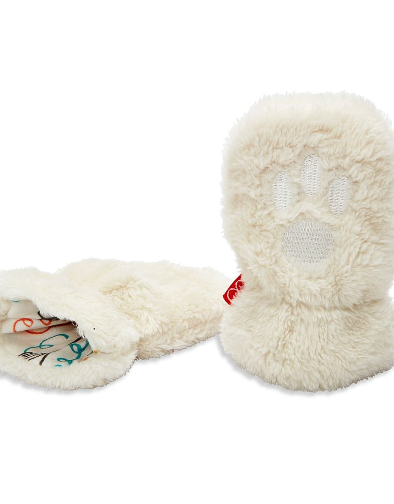 Magnetic Me Magnetic Me So Soft Minky Fleece Magnetic Mittens, Egret