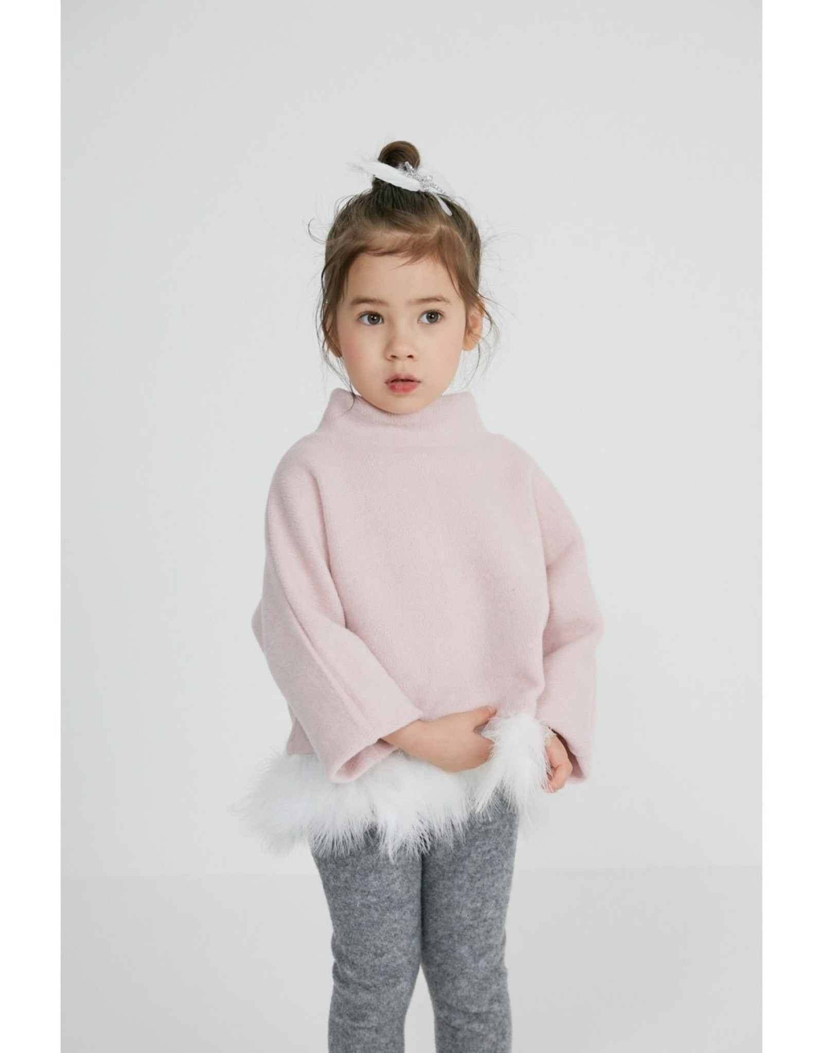 Petite Hailey Petite Hailey Feather Top