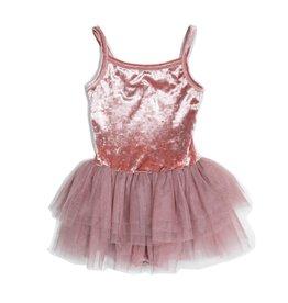 Petite Hailey Petite Hailey Velvet Leotard Tutu Dress