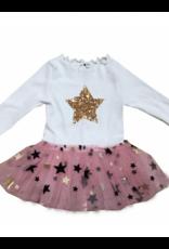 Petite Hailey Petite Hailey Mia 2 Star Baby Onesie Tutu