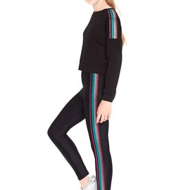 Terez Terez Rainbow Metallic Side Leggings