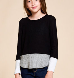 For All Seasons For All Seasons Colorblock Brushed Knit Top