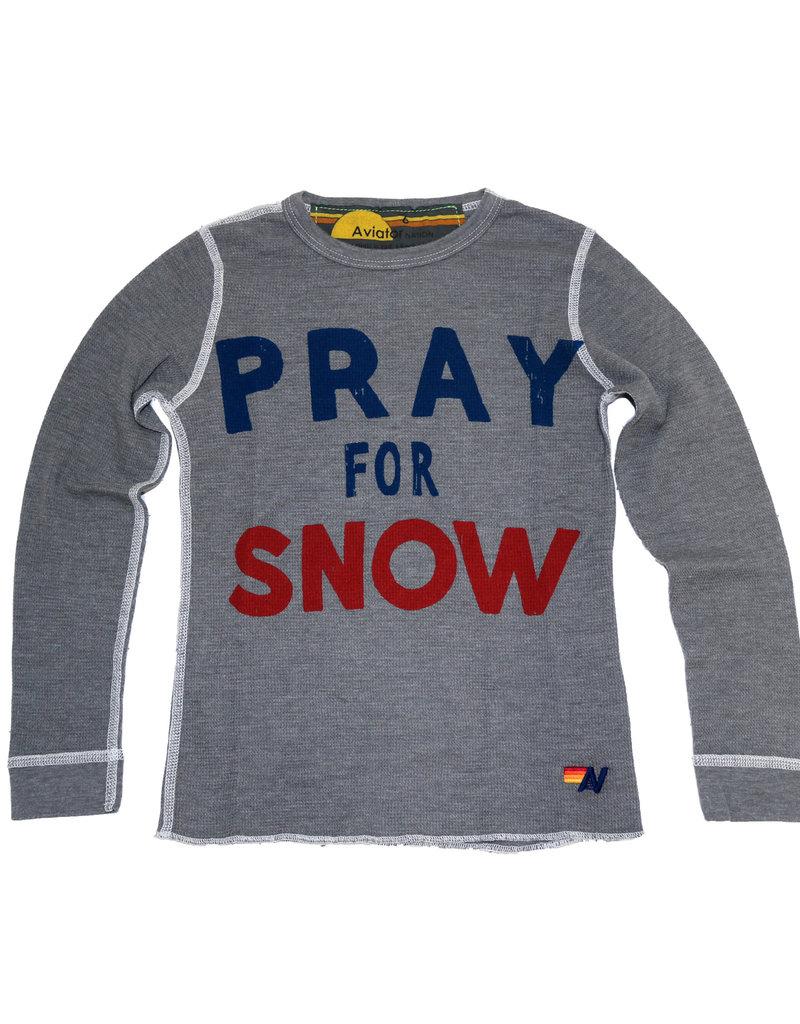 Aviator Nation Aviator Nation Kid's L/S Thermal - Pray for Snow
