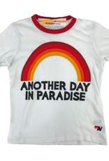 Aviator Nation Aviator Nation Paradise Rainbow Ringer Crew Tee