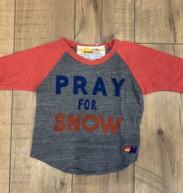 Aviator Nation Aviator Nation Baby Pray For Snow Raglan