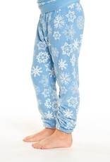 Chaser Chaser Girls Cozy Knit White Snowflake Sweatpant