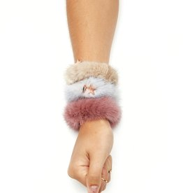 Jocelyn Jocelyn 3 Pack Fur Scrunchies