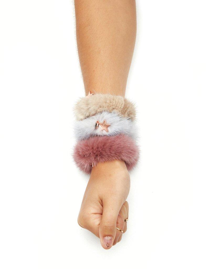 Jocelyn Jocelyn 3 Pack Fur Scrunckies