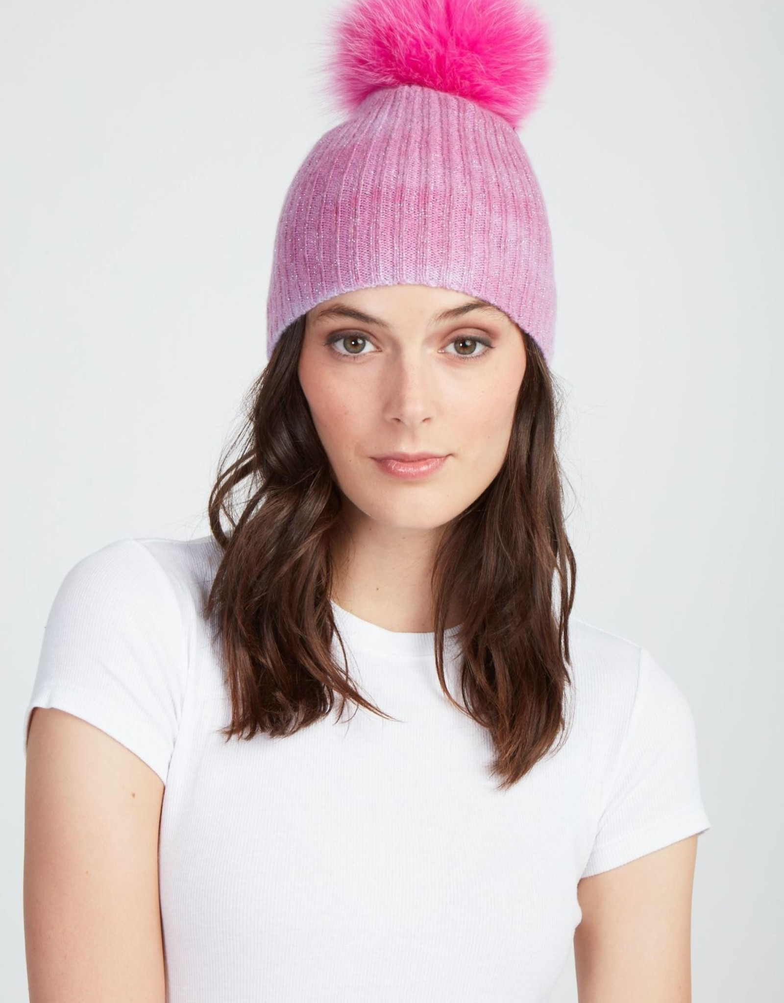 Jocelyn Jocelyn Tie Dye Cashmere Hat Pink