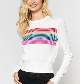 Spiritual Gangster Spiritual Gangster Nikki Crop Striped Sweater