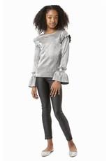 Habitual girl Habitual Girl Nora Pleated Metallic LS Top