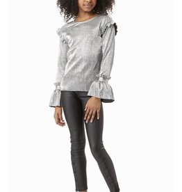 Habitual girl Habitual Girl Nora Pleated Metallic LS Top