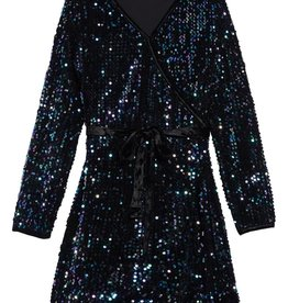 Habitual girl Habitual Girl Raven Multi Sequins Wrap Dress