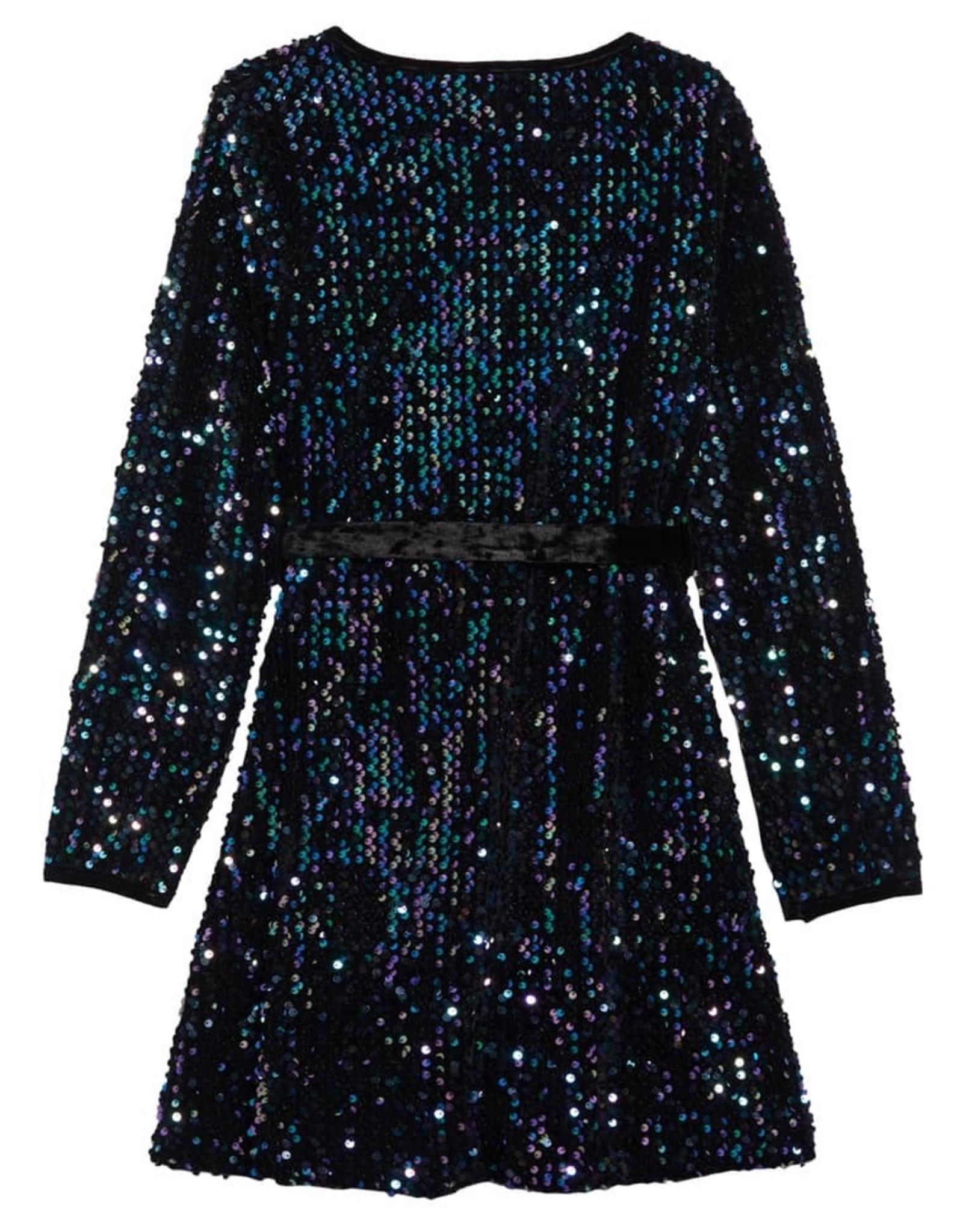 Habitual girl Habitual Girl Raven Multi Sequins Wrap Dress