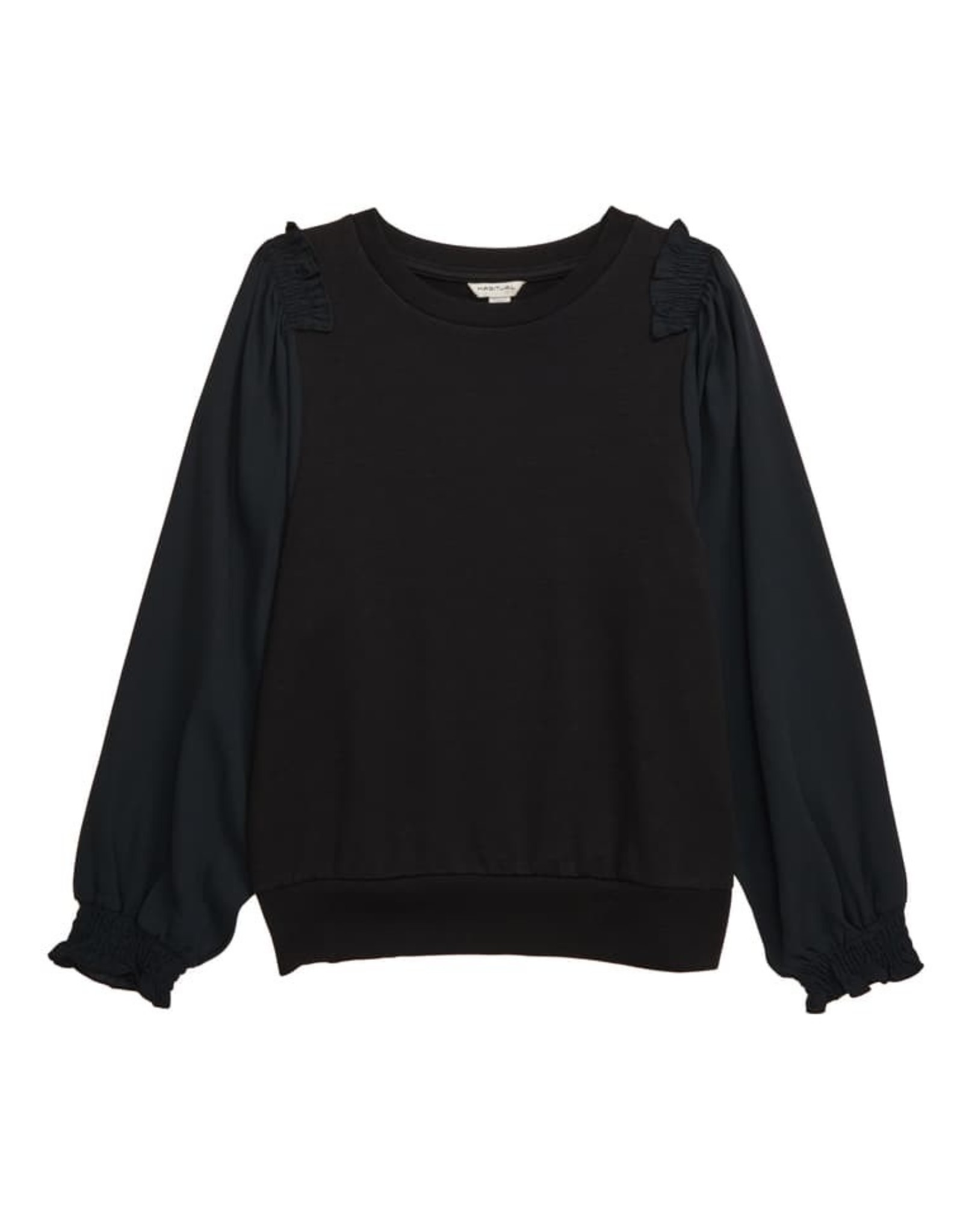 Habitual girl Habitual Girl Scarlette Brushed Knit/Woven Top