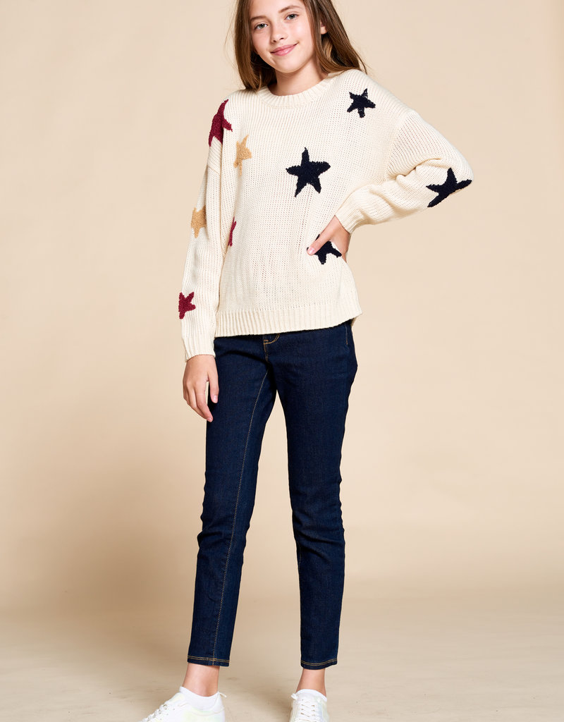 For All Seasons For All Seasons Star Print Sweater