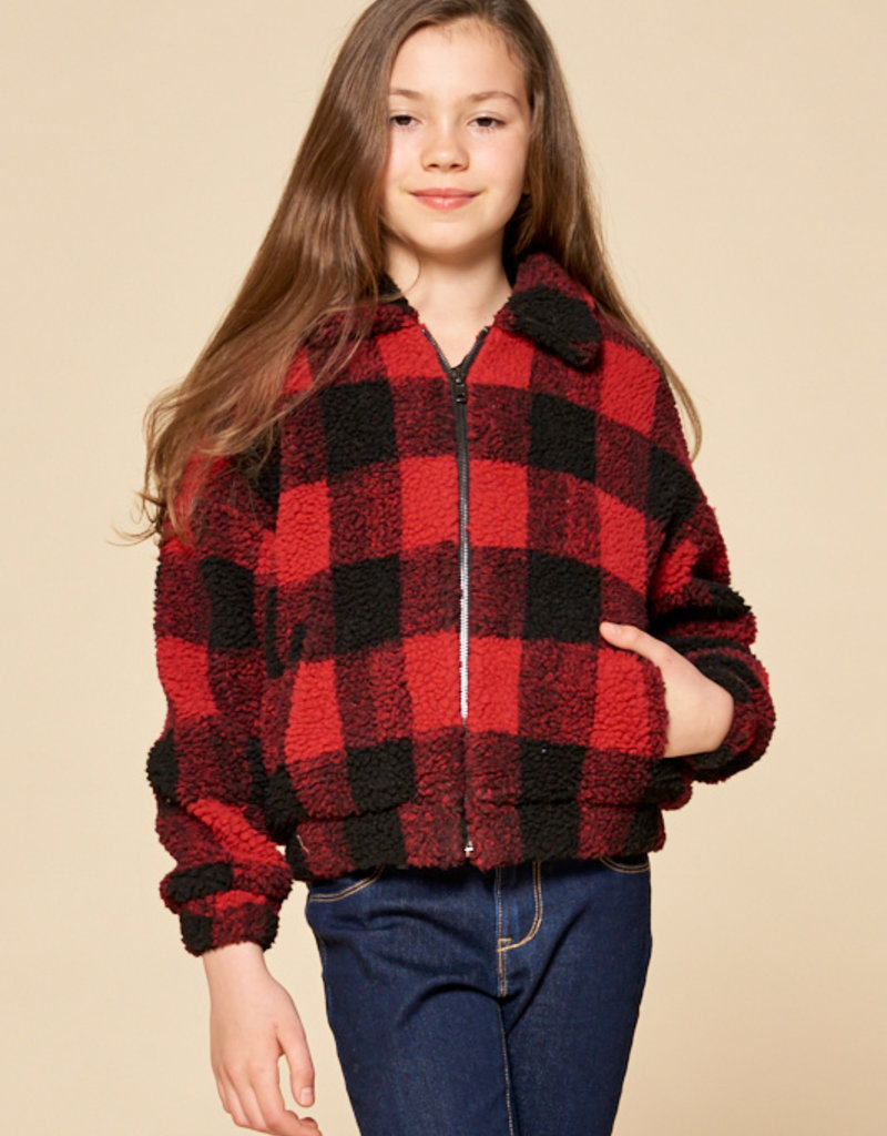 For All Seasons For All Seasons Checkered Sherpa Jacket