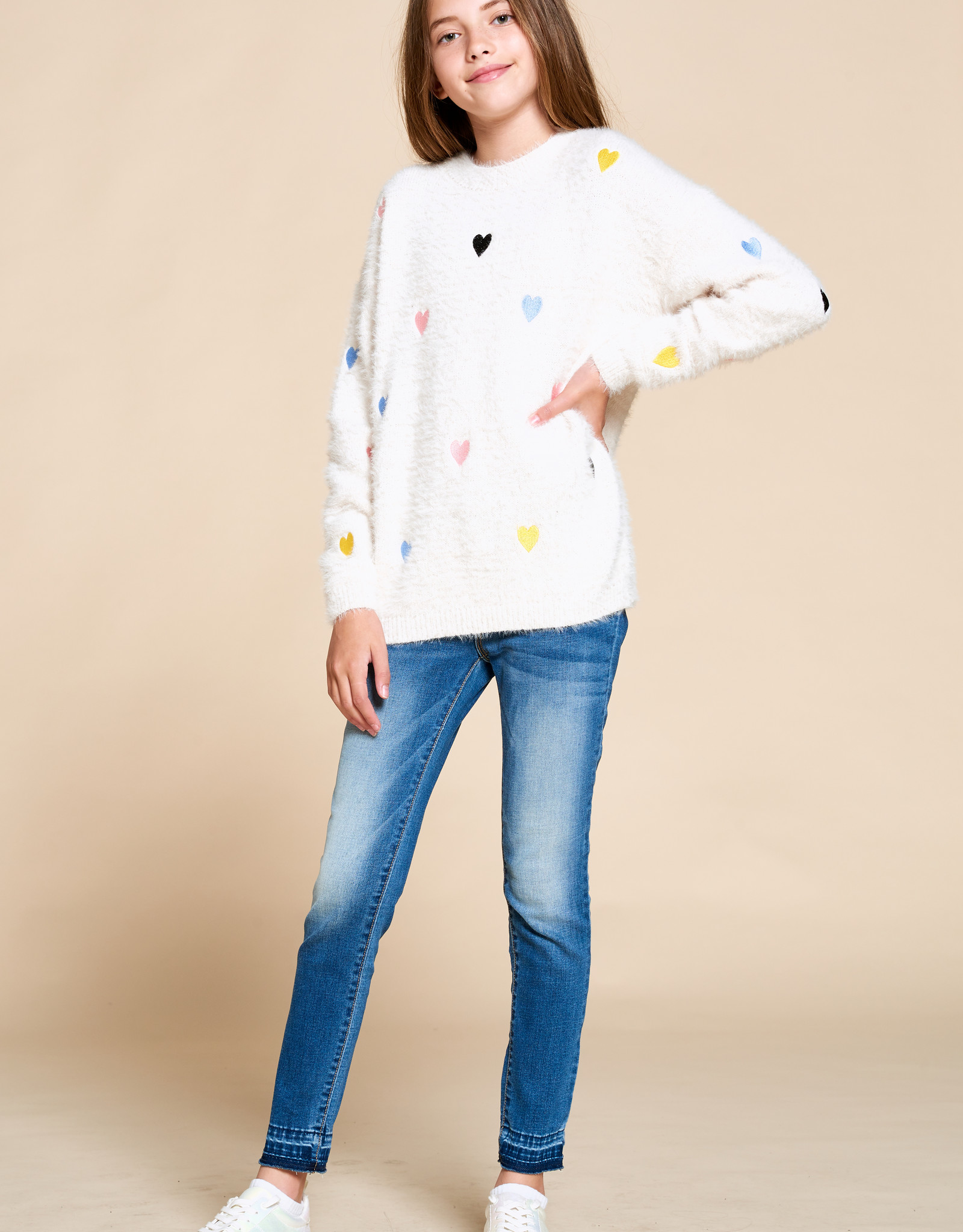 For All Seasons For All Seasons Fuzzy Heart Sweatshirt