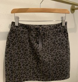 For All Seasons For All Seasons Leopard Skirt w Front Zipper