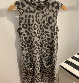 For All Seasons For All Seasons Mock Neck Sleeveless Dress