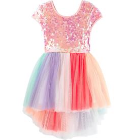 Billieblush Billieblush Sequin and Multicolored Tulle Dress
