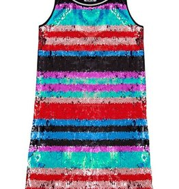 MIA NEW YORK MIA NEW YORK Sequin Stripe Dress