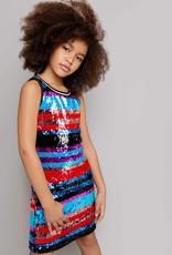 MIA NEW YORK MIA NEW YORK Sequin Stripe Dress