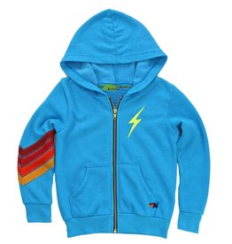 Aviator Nation Aviator Nation Kids Bolt Stitch Chevron Hoodie
