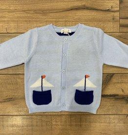 Angel Dear Angel Dear Baby Boy's Nautical Boat Cardigan