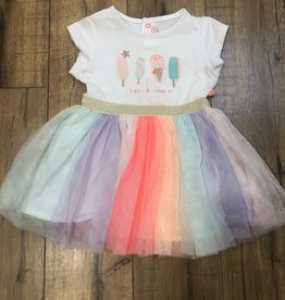 Billieblush Billieblush Baby Ice Cream Print Tulle Dress