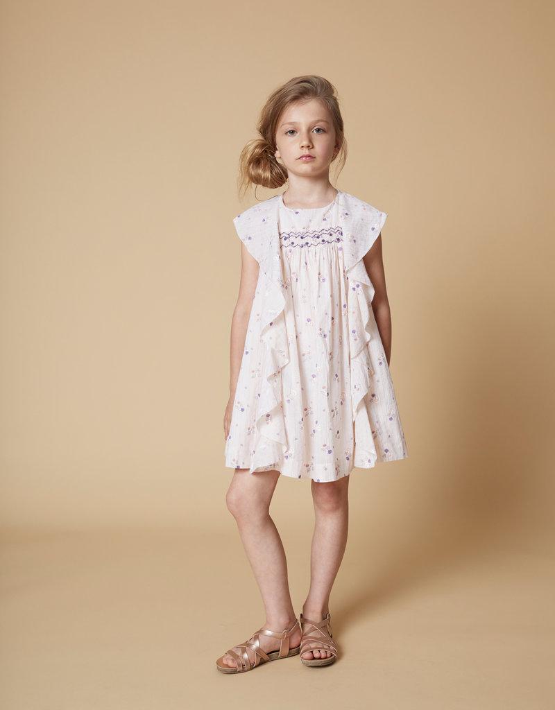 Velveteen Velveteen Girl's Amber Butterfly Back Frill Dress