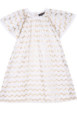 Velveteen Velveteen Rosemary Flutter Sleeve Dress w Lace Trim
