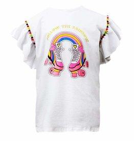 Lola & The Boys Lola & The Boys Follow the Rainbow Pom T-Shirt