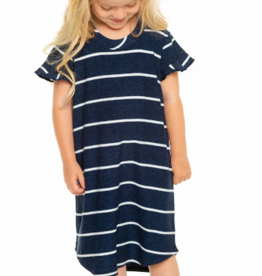 Chaser Chaser Girls Ruffle Shirttail Mini Dress