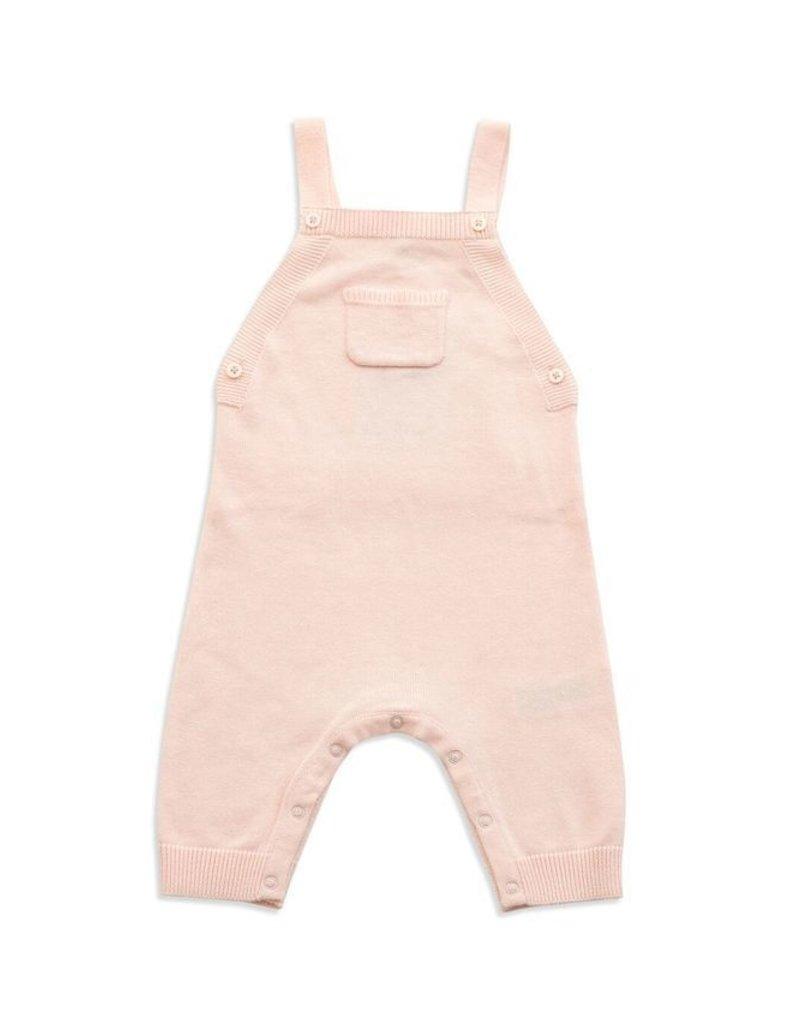 Angel Dear Angel Dear Ruffle Pocket Knit Overall