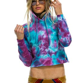 Aviator Nation Aviator Nation Hand Dyed Pullover Crop Hoodie