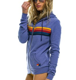Aviator Nation Aviator Nation 5 Stripe Stitch Hoodie - Lavender