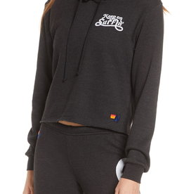 Aviator Nation Aviator Nation Keep On Surfin Pullover Crop Hoodie